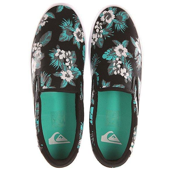 Слипоны Quiksilver Shorebreak Slip Shoe Black/White/Green