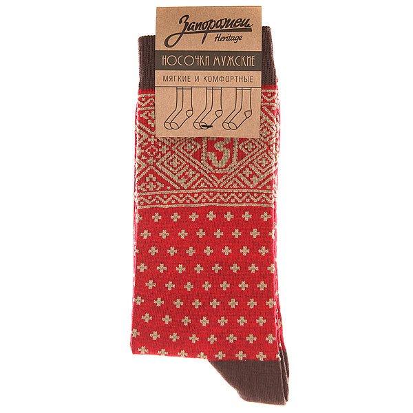 Носки высокие Запорожец Крестики Красный