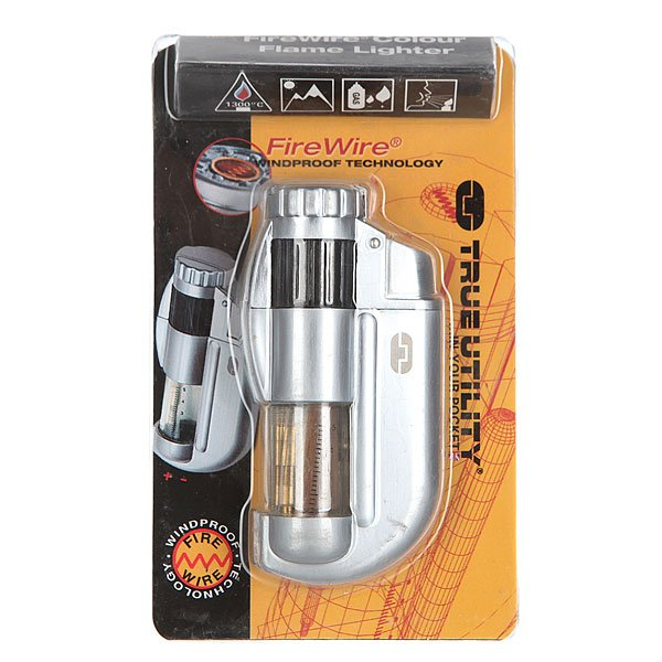 Зажигалка True Utility Firewire Color Flame Lighter Grey