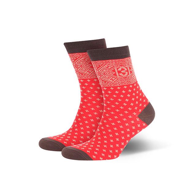 Носки женские Запорожец Крестики Красный