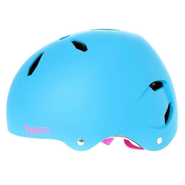Шлем для велосипеда детский Bern Bike EPS Diabla Satin Cyan Blue