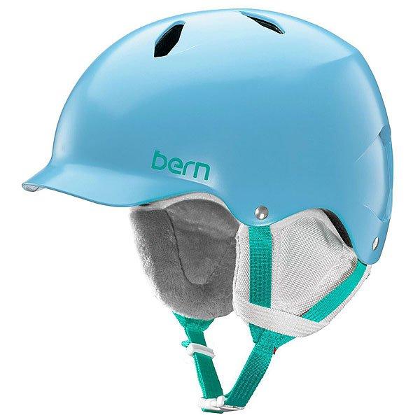 Шлем для сноуборда детский Bern EPS Bandita Satin Light Blue/White Liner