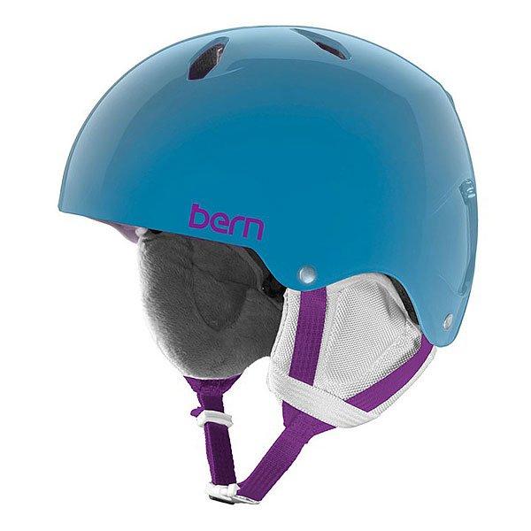 Шлем для сноуборда детский Bern Snow EPS Diabla Translucent Light Blue/White Liner