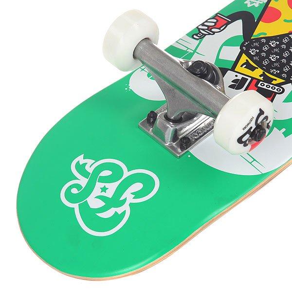 Скейтборд в сборе детский Footwork Crispy Mid Red/Green 27.75 x 7 (17.8 см)
