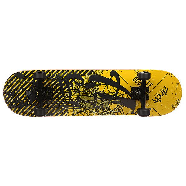 Скейтборд в сборе Fun4U Danger Beat Black/Yellow 31 x 8 (20.3 см)