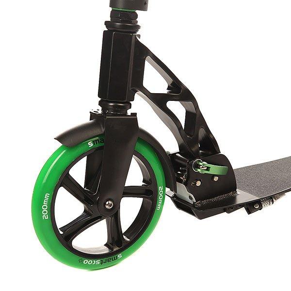 Самокат складной Fun4U Smartscoo+ 200mm Black/Green