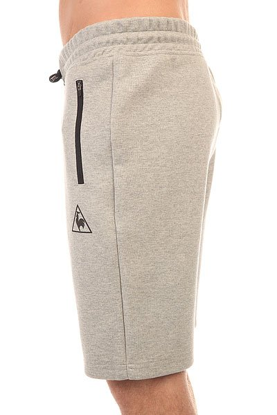 Шорты классические Le Coq Sportif Lcs Tech Short Light Heather Grey