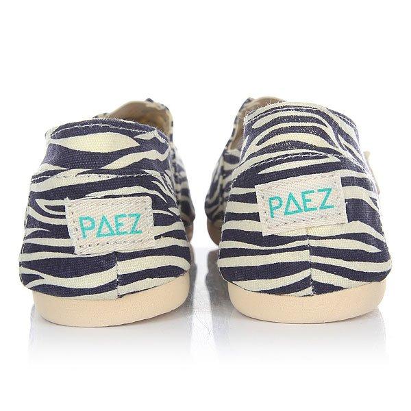 Эспадрильи женские Paez Original Sabana Sabana Zebra-0076