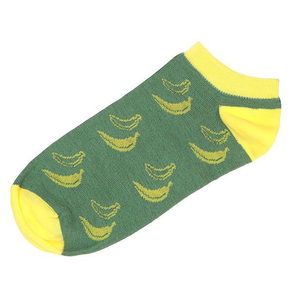 Носки низкие Запорожец Банан Зеленый