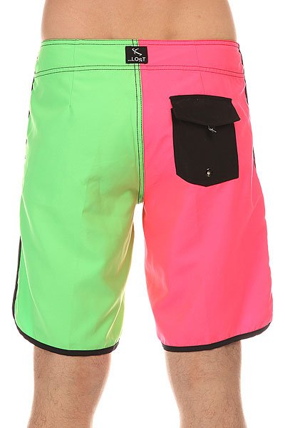 Шорты пляжные Lost Hot Pocket Pink/Green