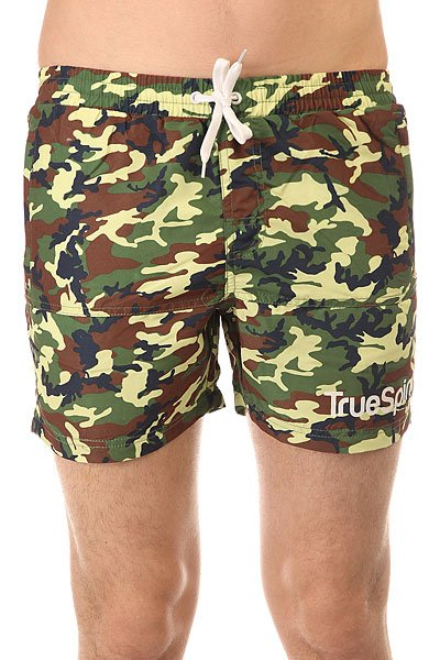 Шорты классические TrueSpin Camo Shorts Green Camo