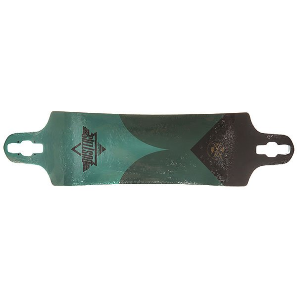 Дека для лонгборда Dusters S6 Aqua Drop-down Deck Turquoise 38 x 9.75 (24.8 см)