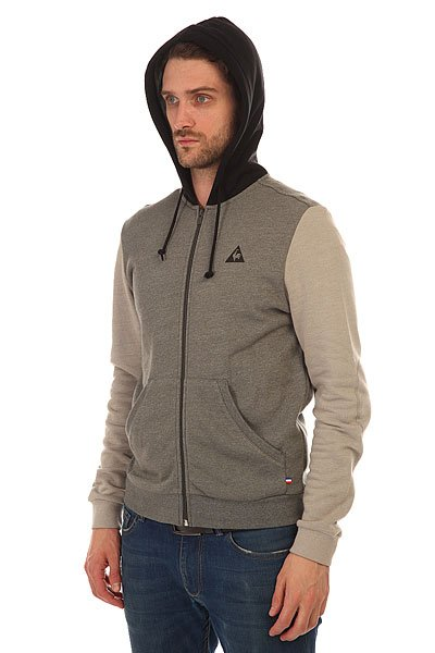 Толстовка классическая Le Coq Sportif Carlio Fz Hood Heather Charcoal