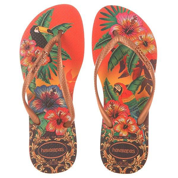 Вьетнамки женские Havaianas Tropical Orange/Multi