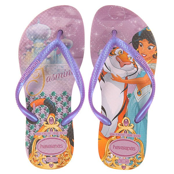 Вьетнамки детские Havaianas Sim Princess Deep purple/Multi