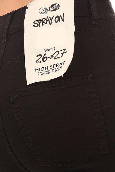 Штаны узкие женские Cheap Monday High Spray Black