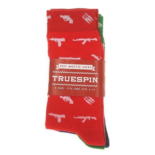 Носки средние TrueSpin Оружие Red/Green/Royal