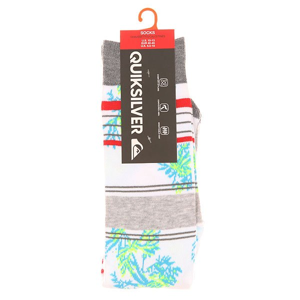 Носки средние Quiksilver Frontboarder Knitted Crew White