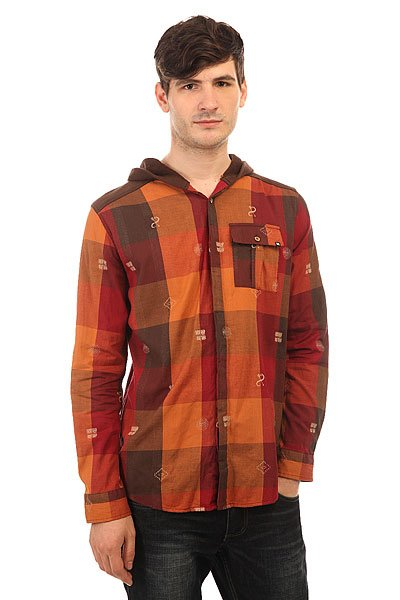 Рубашка в клетку Insight Hipocrisy Hood Fossil Brown