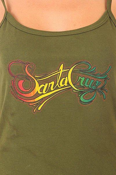 Майка женская Santa Cruz Signature String Olive