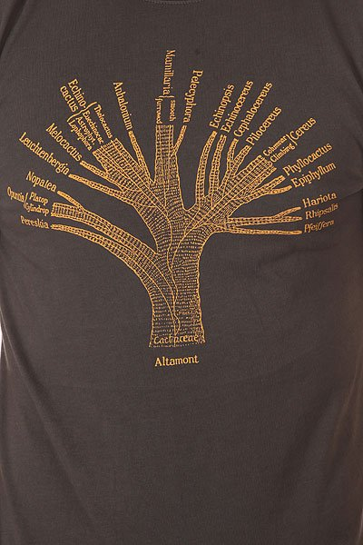 Футболка Altamont Cactus Family Tree Ash