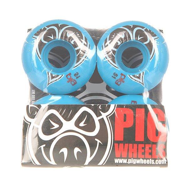 Колеса для скейтборда Pig Head Blue 100A 51 mm