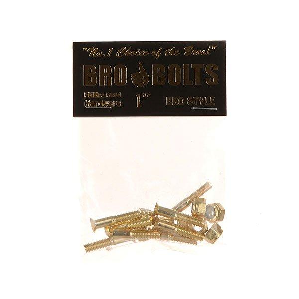 Винты для скейтборда Bro Style Bolts 1 Gold Phillips 1 (8 x Pack)