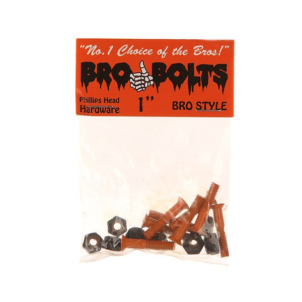 Винты для скейтборда Bro Style Bolts 1 Orange Phillips 1 (8 x Pack)