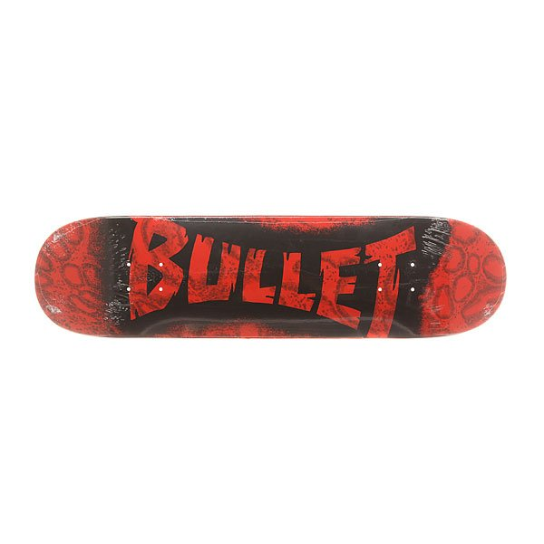 Дека для скейтборда Bullet S6 Sprayed Red 31.6 x 8.0 (20.3 см)