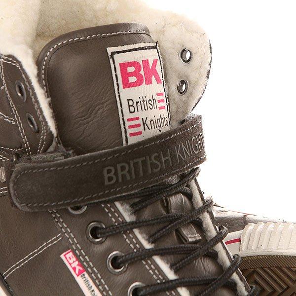 Кеды утепленные женские British Knights Atoll Velcro Dark Grey/Pink