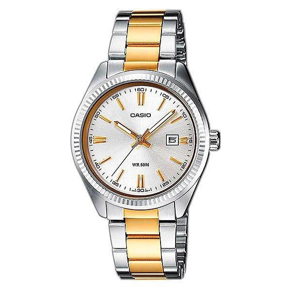 Кварцевые часы Casio Collection Ltp-1302psg-7a Grey/Gold
