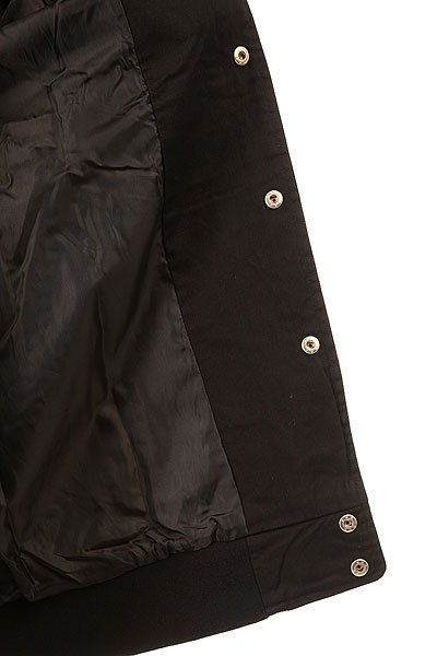 Бомбер Huf Baseball Jacket Black