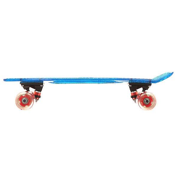 Скейт мини круизер Turbo-FB Cruiser Transparent Blue 5.75 x 22 (55.9 см)