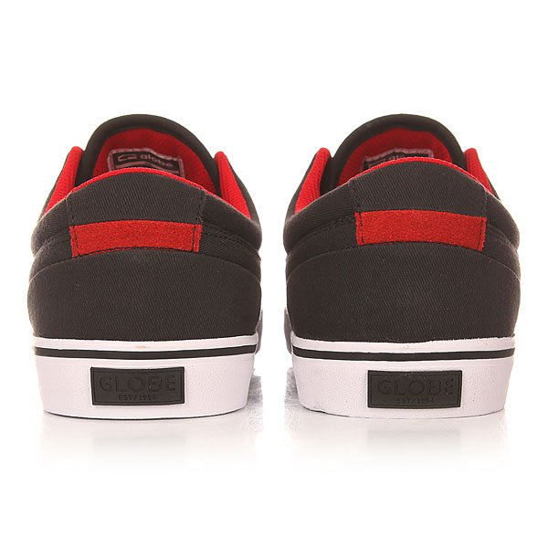 Кеды низкие Globe Gs Black/Red
