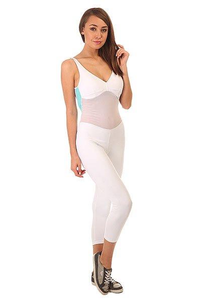 Комбинезон для фитнеса женский CajuBrasil Nz Overall Legging Move White