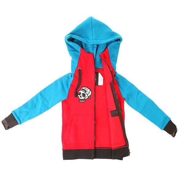 Толстовка классическая детская Shweyka Exception Zip Blue/Red