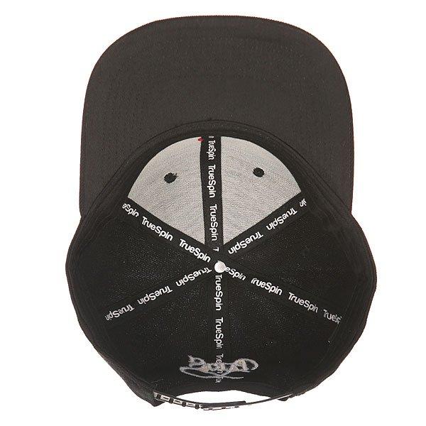 Бейсболка с прямым козырьком TrueSpin Paris Black
