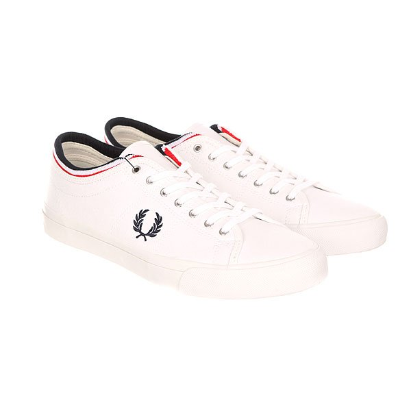 Кеды низкие Fred Perry Kendrick Tipped Cuff Canvas Light White