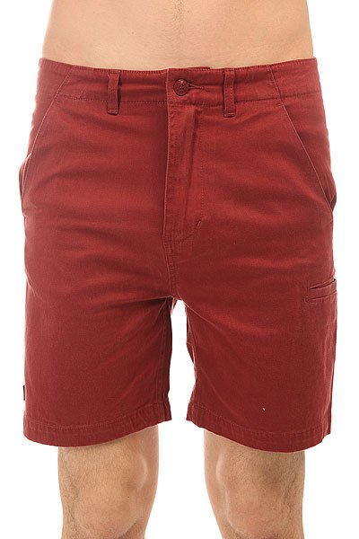 Шорты классические The Hundreds Industry Chino Short Burgundy