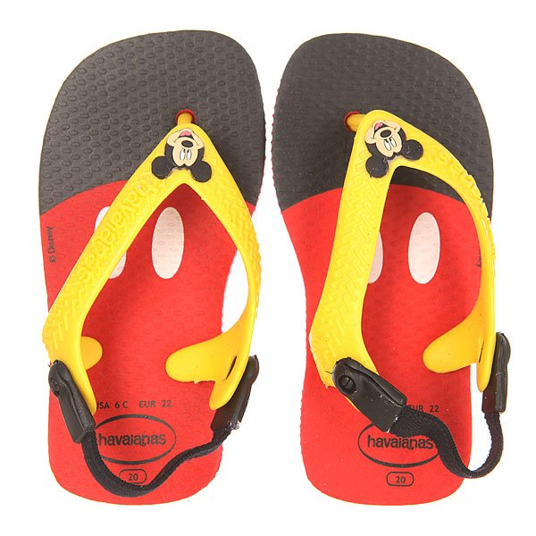 Вьетнамки детские Havaianas Baby Disney Classic Red/Black
