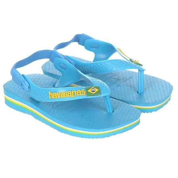 Вьетнамки детские Havaianas Brasil Logo Light Blue