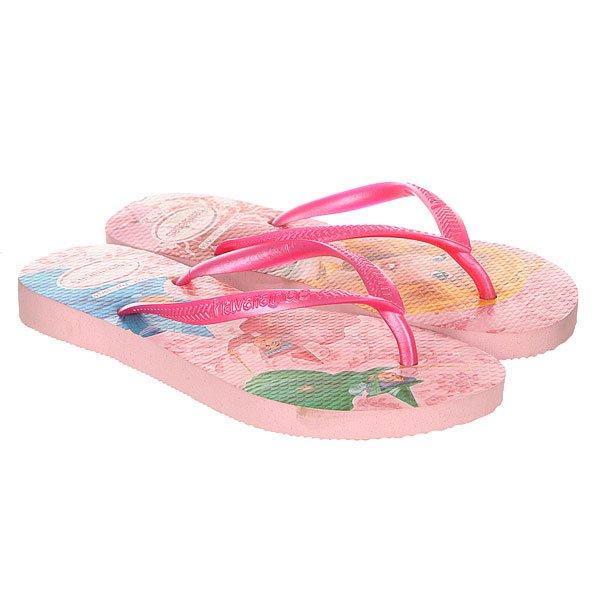 Вьетнамки детские Havaianas Slim Princess Pink