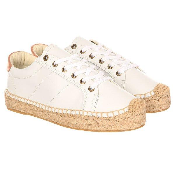 Кеды низкие женские Soludos Platform Tennis Sneaker Clean White