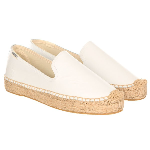 Слипоны женские Soludos Platform Smoking Slipper Leather/White