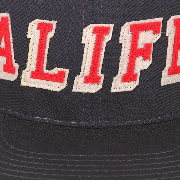 Бейсболка с прямым козырьком Alife Hometeam Snapback Peacoat