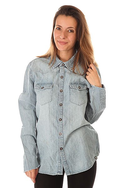Рубашка женская Insight Long Denim Dayz Light Blue Classic