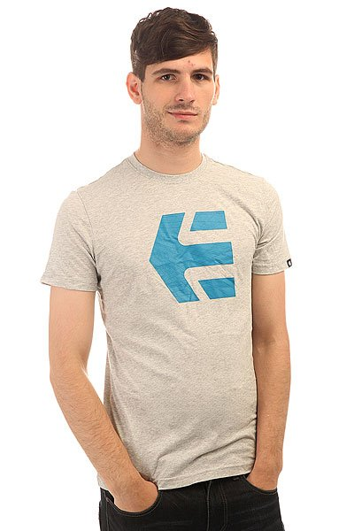 Футболка Etnies Icon 14 S/S Tee Grey/Blue