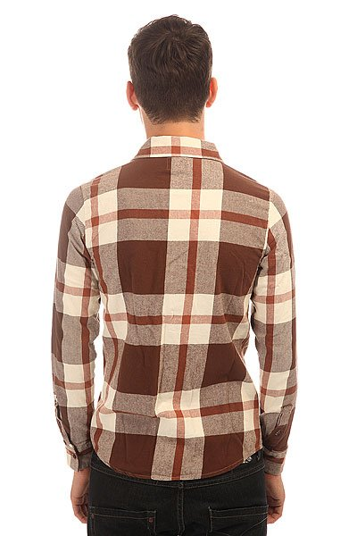 Рубашка в клетку Etnies Chi Town Repel L/S Flannel Dark Chocolate