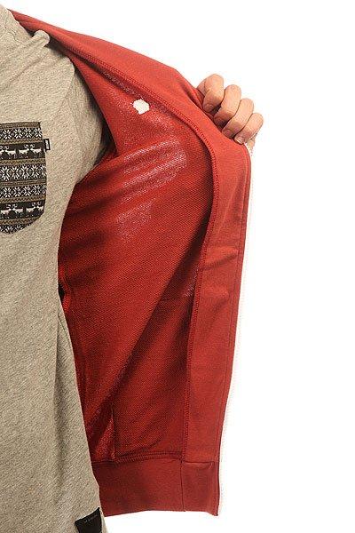 Толстовка классическая Etnies Classic Zip Fleece Rust