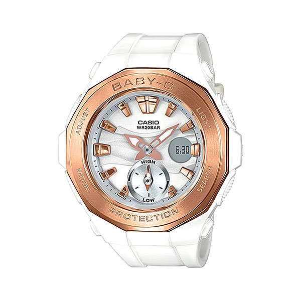 Электронные часы женские Casio Baby-g Bga-220g-7a White